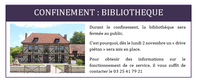 confinement bibliotheque